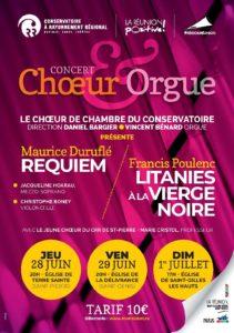 CHŒUR & ORGUE : DURUFLE ET POULENC @ Eglise de Terre Sainte, St Pierre