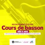 Recrutement pour les cours de basson sur les centres de St Denis, St Paul et St Pierre dès 8 ans