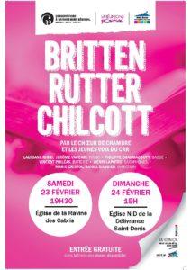 """""""BRITTEN, RUTTER ET CHILCOTT"""" PAR LE CHŒUR DE CHAMBRE ET DES JEUNES VOIX DU CRR @ Eglise de la Ravine des Cabris"""