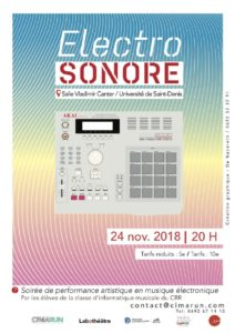 ELECTRO SONORE @ Théâtre Canter, Campus Universitaire du Moufia, St Denis